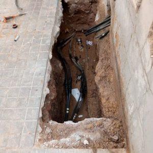Canalización cables